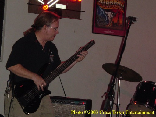 John Perry on Bass, at the Steel Horse Saloon September, 2003